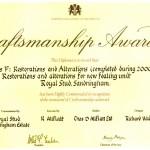 CDA win a craftsmanship award